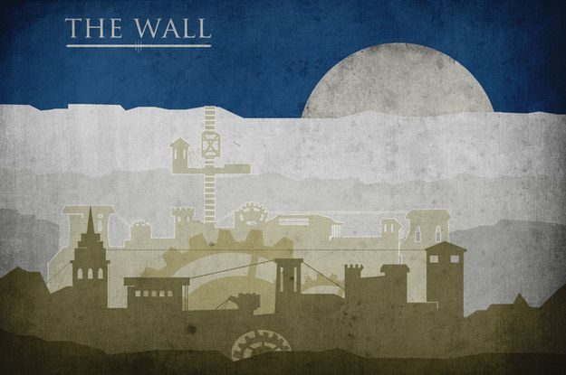The Wall.: Movie Posters, Art, Gameofthrones, Minimalist Poster, Travel Posters, Wall, Game Of Thrones, Thrones Poster