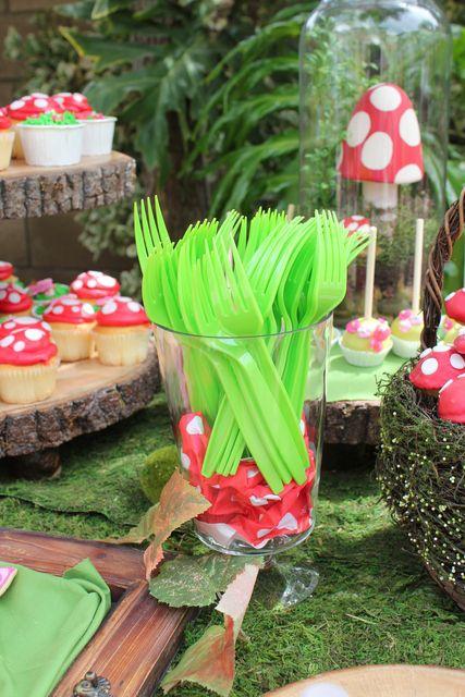 "Photo 1 of 116: woodland fairy / Birthday ""Talia's Woodland Fairy & Toadstool Party"" | Catch My Party"