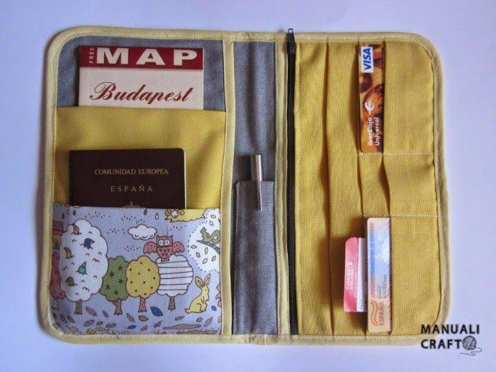 Funda portadocumentos de viaje   Manualicraft - Amigurumi, scrap y costura creativa