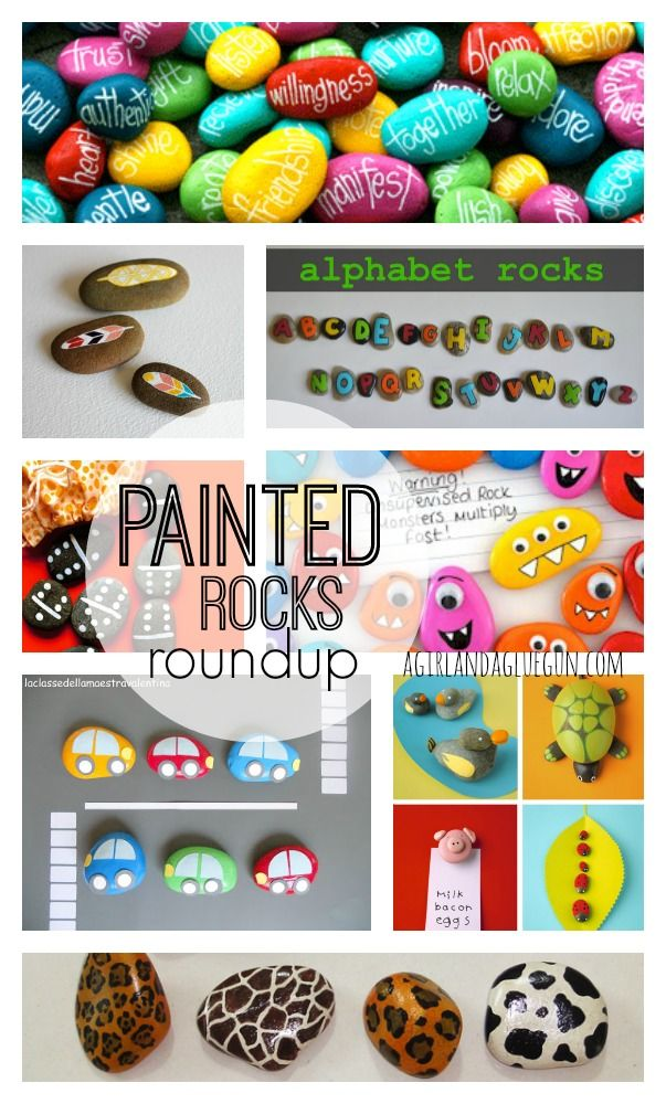 painted rocks roundup--fun craft that you can find in your driveway!