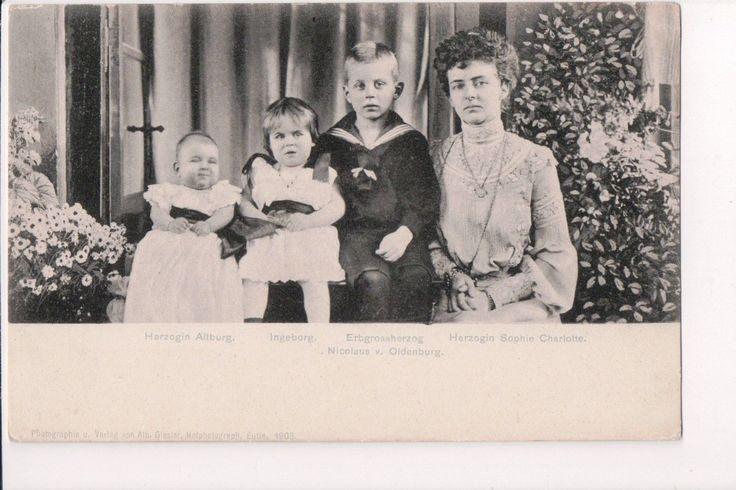 Vintage Postcard Children of Frederick Augustus II Elisabeth of Oldenburg | eBay