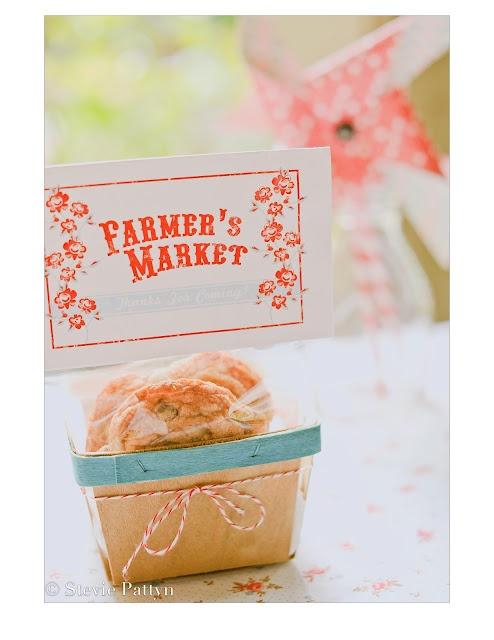 Free Printable farmer's market bag toppers {lulu's party designs for shop sweet lulu}