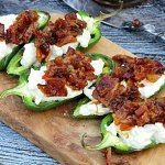 Baked Bacon Stuffed Jalapeno Poppers #BaconMonth - From Gate to Plate