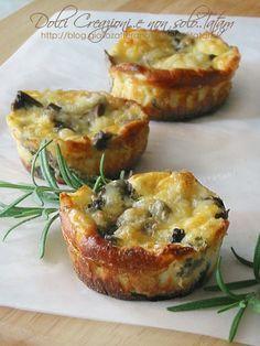 Sformatini ricotta e funghi   finger-food, aperitivi