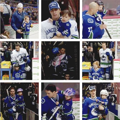 Reasons Why Hockey Players Are Actually Big, Cuddly Sweethearts... The Canucks♥