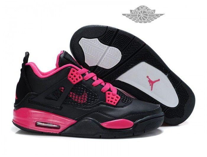 Air Jordan 4 Retro - Basket Jordan Chaussures Pas Cher Pour Femme Noir/Rose Air Jordan 4 Retro Femme - Authentique Nike chaussures 70% de r��duction Vendre