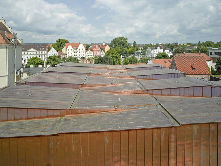 Double gymnasium in Landshut by Hirner & Riehl Architekten, roofscape