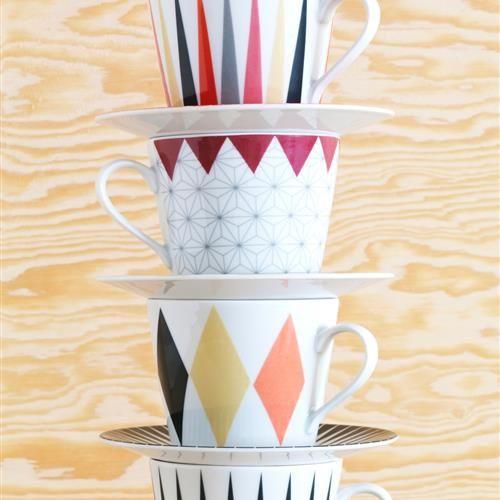 BRAKIG Φλυτζάνι καφέ και πιατάκι 2 τεμ. διάφορα σχέδια - IKEA