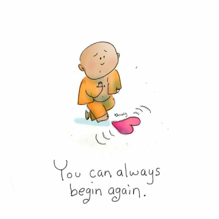 Buddha doodle ❤ You can always begin again