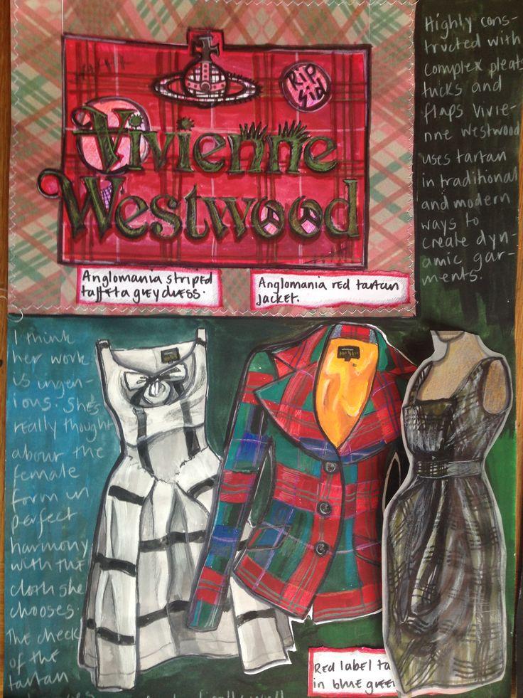 Dominique Holt's Vivienne Westwood 'Tartan Project' research page 1
