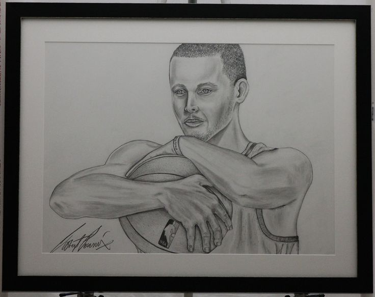 MVP Stephen Curry Framed. This is an illustration of Stephen Curry Drawn in pencil. Framed original pencil drawing of the 2015 NBA MVP. Framed artwork will be shipped in a protected cardboard picture will be covered for protection. PRINTS ARE AVAILABLE UPON REQUEST. Item is framed.