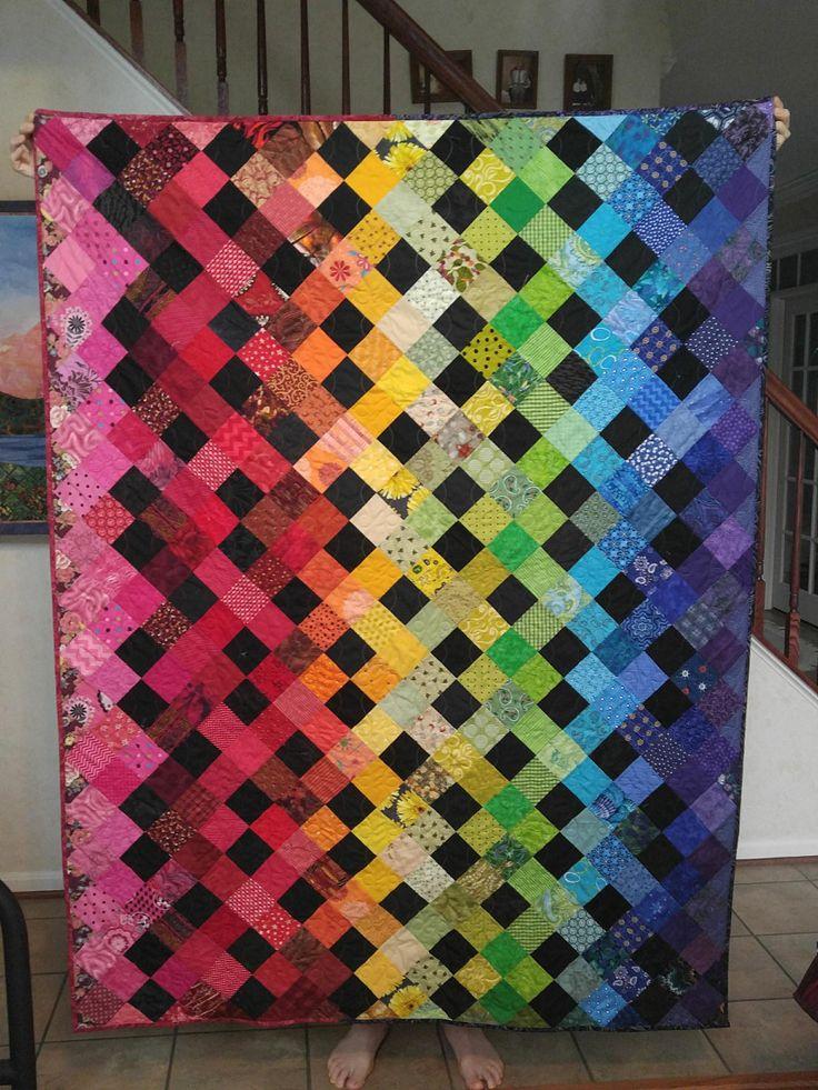 Free Quilt Pattern: Rainbow Drops