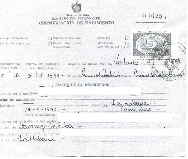 certificate template marriage birth cuban death translation divorce fake spanish english mexican sample certificates dannybarrantes replacement example cubans hoping track