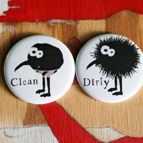 Dishwasher magnet set monster in boxers