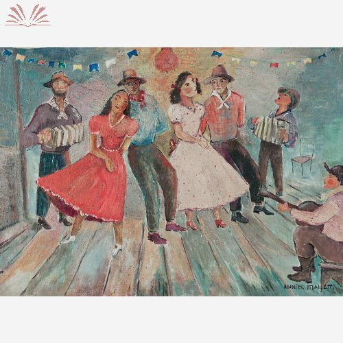 Título :Festa Junina Artista :Annita Catarina Malfatti - Anita Malfatti - Anita Malfati Técnica :Óleo sobre Tela Dim. :33,5 x 47 cm