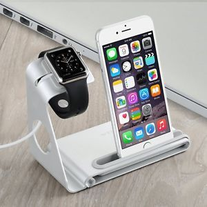 Aluminum Alloy Holder Stand for Apple Watch iWatch iPhone 5 5s 6 6s plus Phone