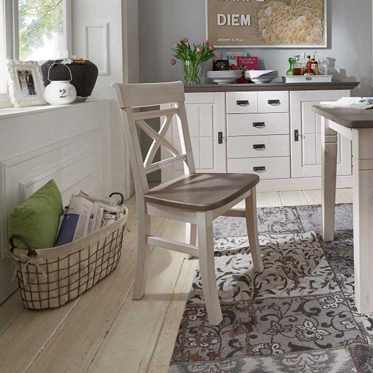 Pinterestu0027te 25u0027den fazla en iyi Holzstuhl weiß fikri Esstisch - esszimmer weis landhaus
