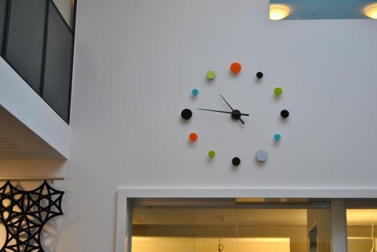Clock down at 'Snarskivan' in Tórshavn, Faroe Islands. Design by MikkalinaGlas. For more see www.mikkalina.com