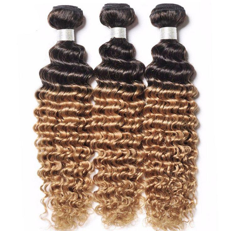 wholesale brazilian hair remy ombre deep wave weave