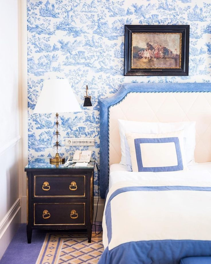 Bedroom Decorating Ideas Totally Toile: 30 Toile Bedrooms Decorating Ideas In 2020