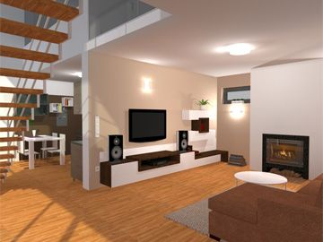 Design for one modern living room by Monika Jakubcova www.arcline.sk #interior, #interiordesign, #homedesign
