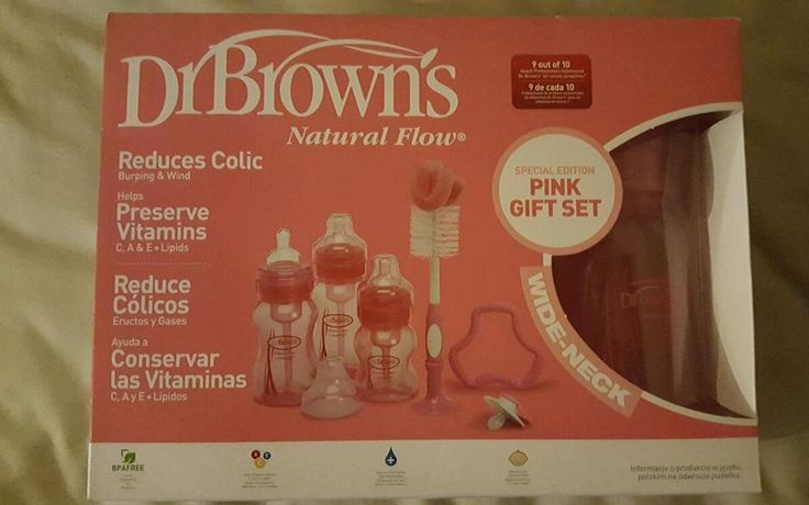 http://www.infanteducationaltoys.com/category/dr-browns-bottles/ Dr Brown's special edition 6 piece pink gift set