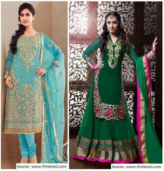 длинный дизайнер Salwar костюм