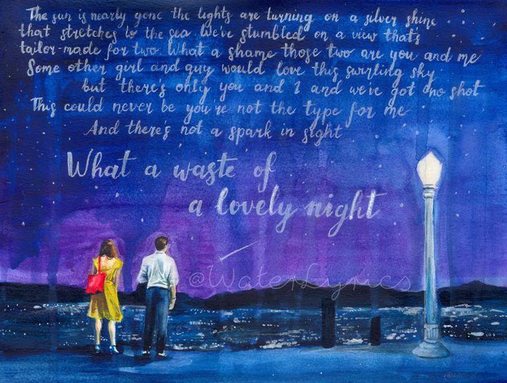 LA LA LAND watercolor illustration by WaterLyrics on Etsy