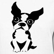 Black and white Boston terrier drawings | Boston Terrier