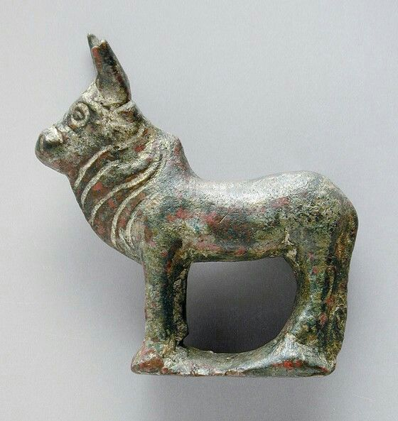 Bronze sculpture of a zebu. Roman. 1st-2nd century A.D. | Los Angeles County Museum of Art