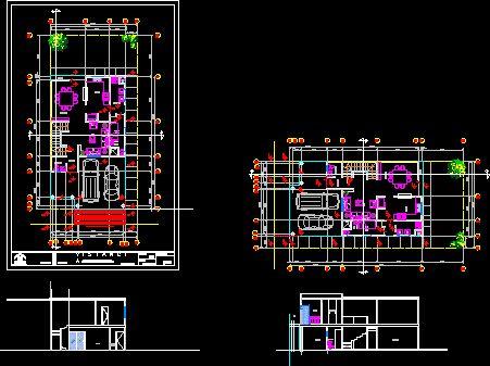 Planos constructivos de casa habitacion en dibujo de for Casa cad