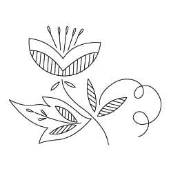 stylized flower. I like the designs inside the leaves.