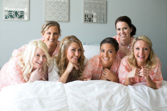 Eight Bridesmaid Robes. Bridal Robes. by ModernKimonoRobes on Etsy
