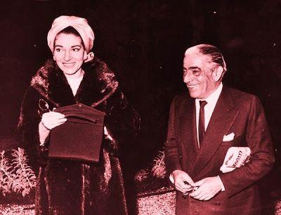 Maria Callas Aristoteles Onassis    Scala Regia Inspirational Archives: