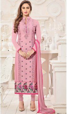Pink Color Georgette Straight Cut Casual Churidar Kameez | FH577085322 Follow us @heenastyle  #blouses #gorgeous #attires #like4like #bollywood #Fashion #ChuridarKameez #Indian #love #instamood #longchuridarkameez #asianfashion #asianweddings #asianbrides #indianfashion #pakistanifashion #churidarkameez #shawl #desistyle #bradford #salwarsuit #salwarkameez #salwarsuitonline #salwaronline #churidarsuit #churidarkameez #indianclothes #indianwear #ethnicwear #ethnicclothing #heenastyle