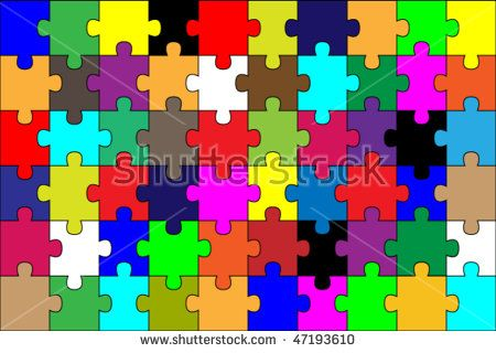 colorful puzzle background