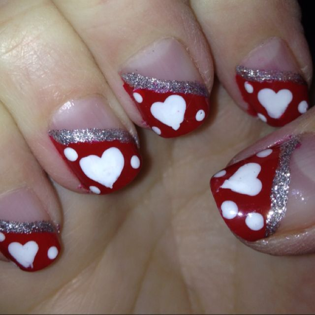 Valentine Nail Art....too cute