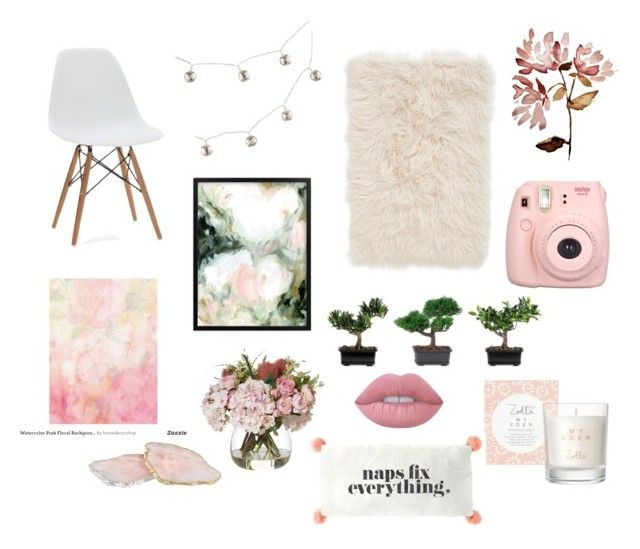 """""""💕"""" by vanna0803 on Polyvore featuring interior, interiors, interior design, home, home decor, interior decorating, Nordstrom, Nearly Natural, Fujifilm and Lime Crime"""