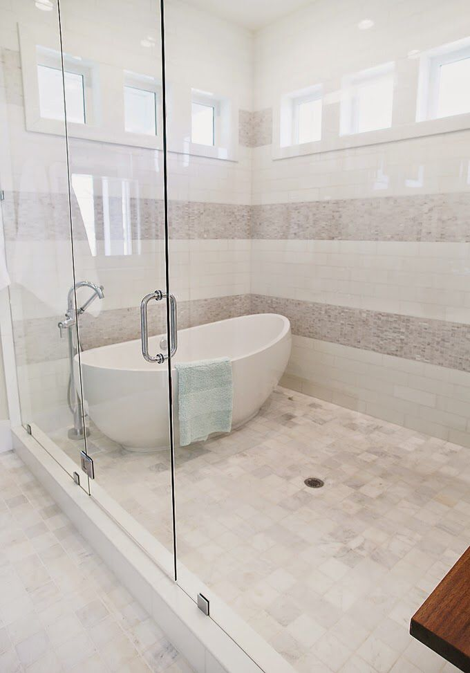 Freestanding Bathtub In Large Shower Freestanding Tub