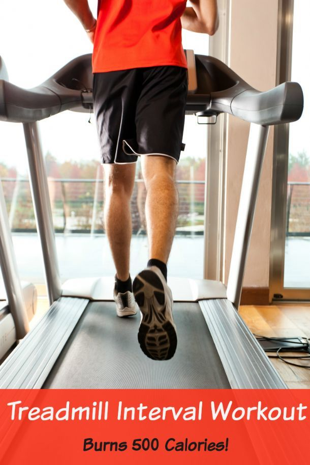 Burn up to 500 calories with this treadmill workout. With the weather getting colder, you might be taking your exercise routine inside. What better way to up your calorie burn than on the treadmill? We promise you won't dread it!