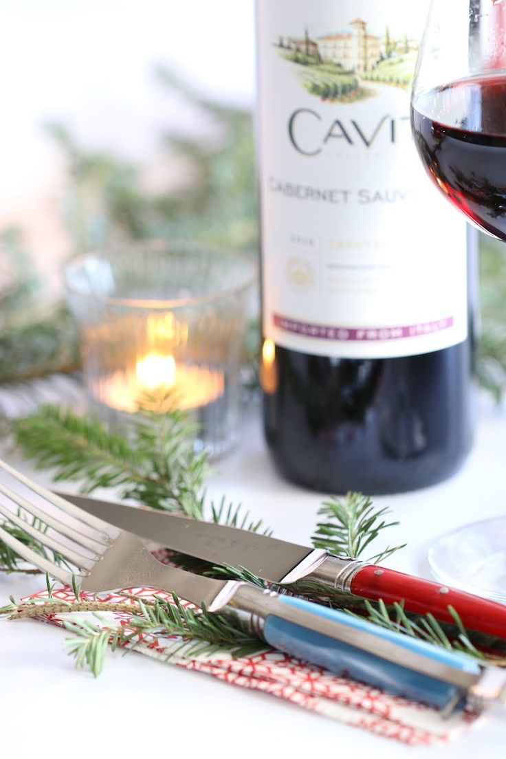 How to Create an Elegant DIY Holiday Table with Empty Wine Bottles