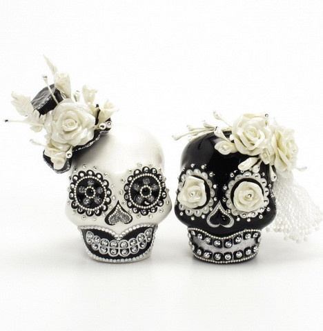 49 best goth glam wedding images on pinterest weddings for Sugar skull wedding dress