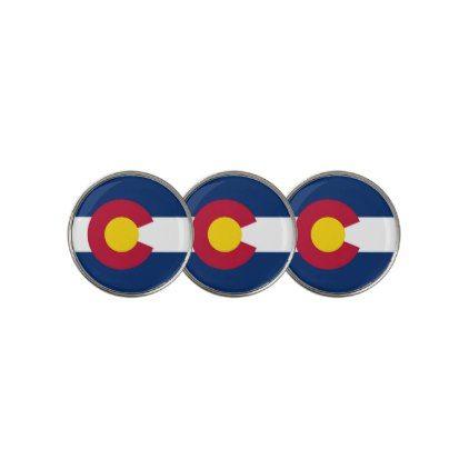 #Golf Ball Marker with Flag of Colorado USA - cyo customize do it yourself diy