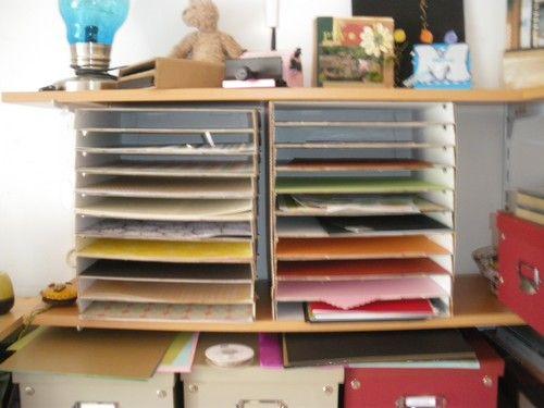 1000 images about astuces rangement atelier manuel on - Astuce rangement papier ...