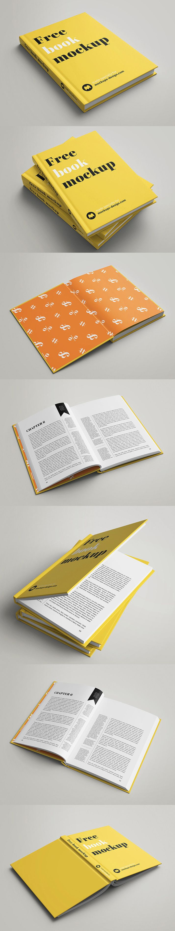Free Book Mockup PSD Yes! Another free book mockup – we know how much our users like them. Seven different shots, with different angles with cust...