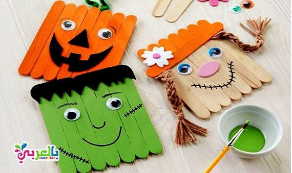15 Art And Craft Ideas For Kids Easy Craft For Kids At School بالعربي نتعلم Preschool Diy Crafts Halloween Crafts For Kids Crafts