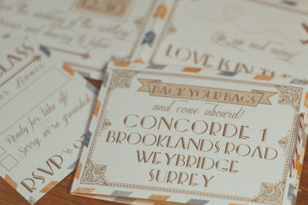 vintage travel wedding invitations // photo by Modern Vintage Wedding // invitations by Elle is For Love