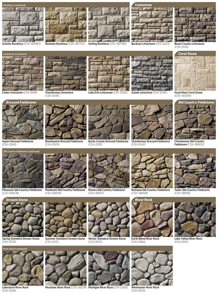 51 best images about cultured stone on pinterest high for Different types of stone for houses