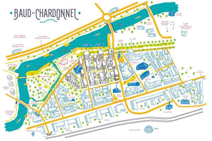 Carte du quartier Baud-Chardonnet - deux degrés