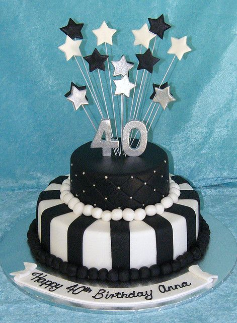 Black and White 40th | Flickr - Photo Sharing! another cute idea but would want both cheese cakes